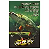 Musky Pike Fluorocarbon Leaders, 2 Pack, 80 LB