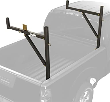 ALUMINUM 250lb Pickup Truck Ladder Rack Side Mount BLACK