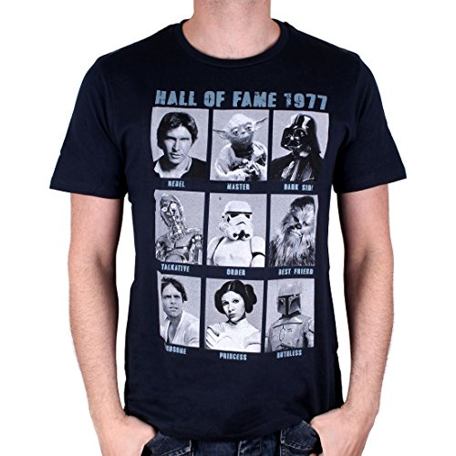 Star Wars T-Shirt Hall of Fame (XL, Navy)