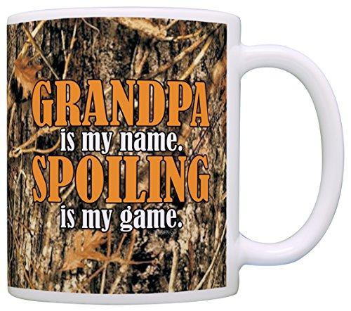 Woodland Camo Grandpa Spoiling Coffee