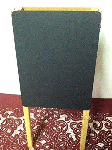 Table Top Easel Double Side Black Chalkboard 9'' X 12'' Natural Hardwood Frame Display