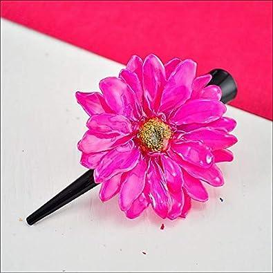 Amazon Hot Pink Daisy Hair Clip Flower Hair Accessories