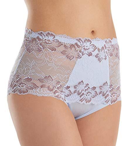 Rhonda Shear Full Coverage Lace Brief Panty (3901) L/Heather Mocha