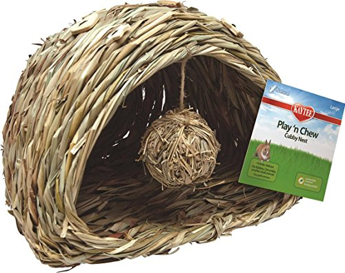 Kaytee Play n Chew Cubby Nest for Small Animals, Large