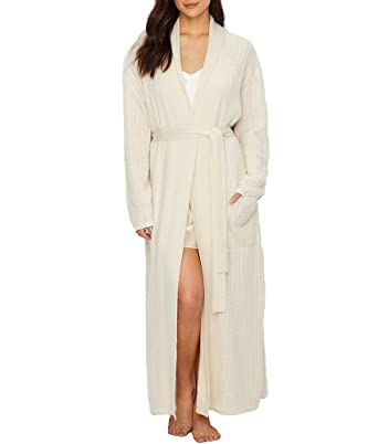 a07d560325 Arlotta Cable Knit Cashmere Robe