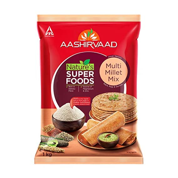 Aashirvaad Nature's Super Foods Multi Millet Mix Pouch, 1 kg