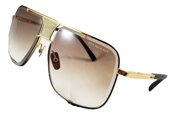 Dita Mach Five Gafas de sol Gold & Black con lente de ...