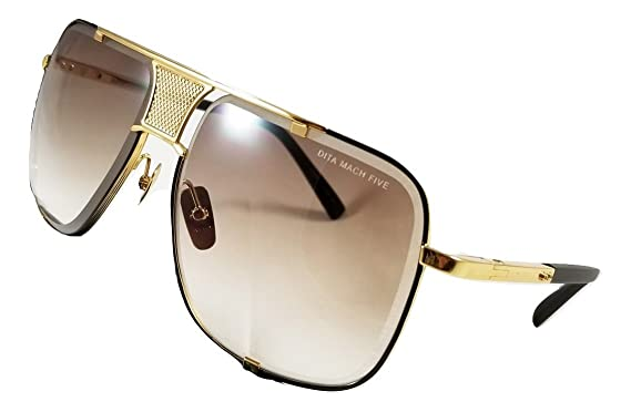 comprar online 52d93 e4633 Dita Mach Five Sunglasses Gold & Black frame with Brown ...
