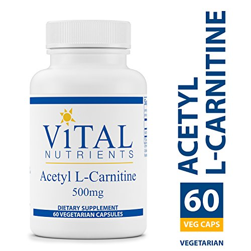 Nutrients Brain (Vital Nutrients - Acetyl L-Carnitine 500 mg - Supports Normal Brain Function - 60 Capsules)
