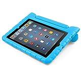 #2: iPad Case, BUDDIBOX [EVA Series] Shock Resistant [Kids Safe][STAND Feature] Carrying Case for Apple iPad 2, iPad 3, iPad 4, and Retina, (Blue)