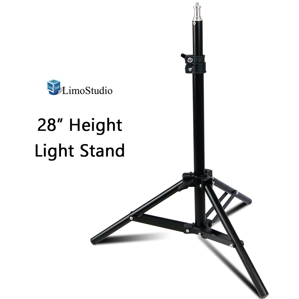 LimoStudio 28'' Max Height Mini Aluminum Photography Back Light Stands for Table Top Photo Studio Lights, AGG2341