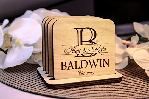 Personalized Coasters - Set of 4 - Imprint - Sign Ray Ban