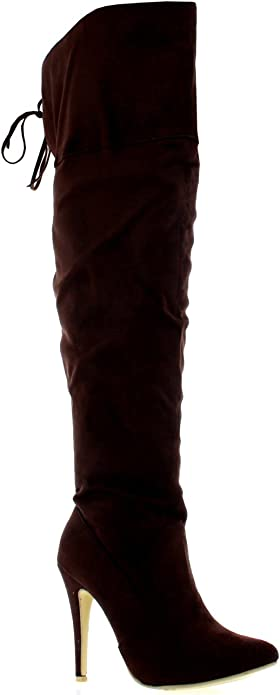 Divine leather thigh boots. Uk size 8