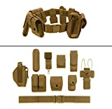 Ultimate Arms Gear FDE Flat Dark Earth Tan 10pc Police-Law Enforcement-Security Gear Modular Nylon Duty Belt With Pistol/Gun Holster Fits HK H&K Heckler Koch Handgun