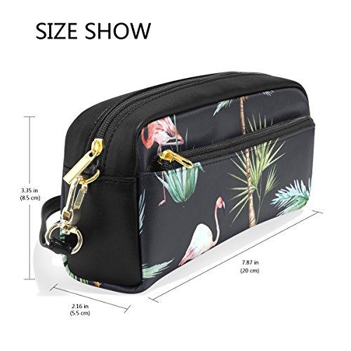 bennigiry tropischen Palmen Flamingos Große Kapazität Federtasche, Kinder Kinder Studenten Stift Tasche Tasche für Reisen Schule Kosmetiktasche, klein