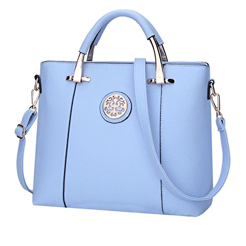 DISSA - Bolso al hombro para mujer One size Azul Celeste