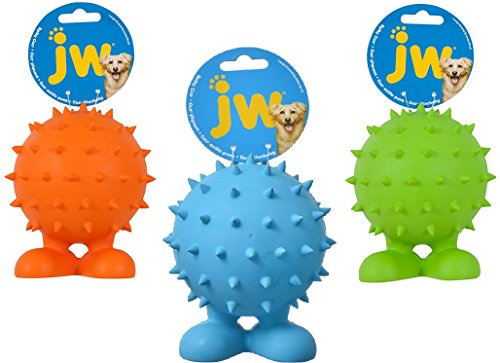 (3 Pack) JW Spiky Cuz Assistant Toy, Small, Multicolor - Colors May Vary