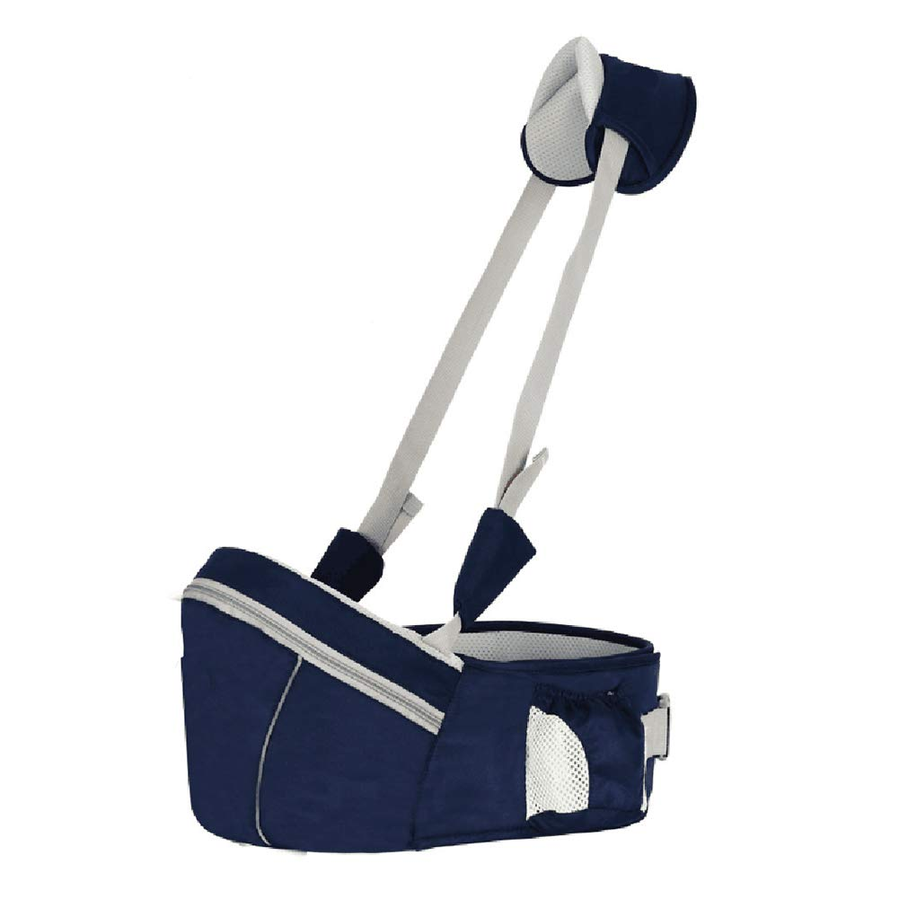 LAPUTA Infant Newborn Baby Hold Carrier Anti-Slip Waist Belt Stool Chair Storage Pouch - Dark Blue by LAPUTA