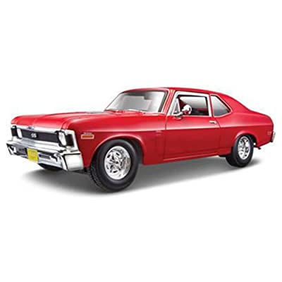 Chevrolet 1970 Nova SS Coupe Red 1/18 Diecast Model Car by Maisto 31132: Toys & Games