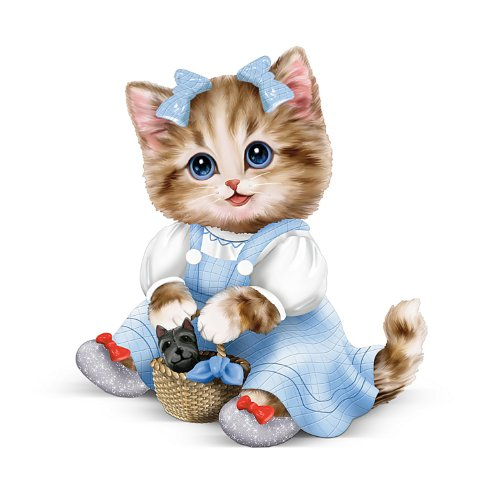 Hamilton Collection Wizard (Kayomi Harai Kitten: There's No Place Like Home Dorothy Wizard Of Oz Figurine by The Hamilton Collection)
