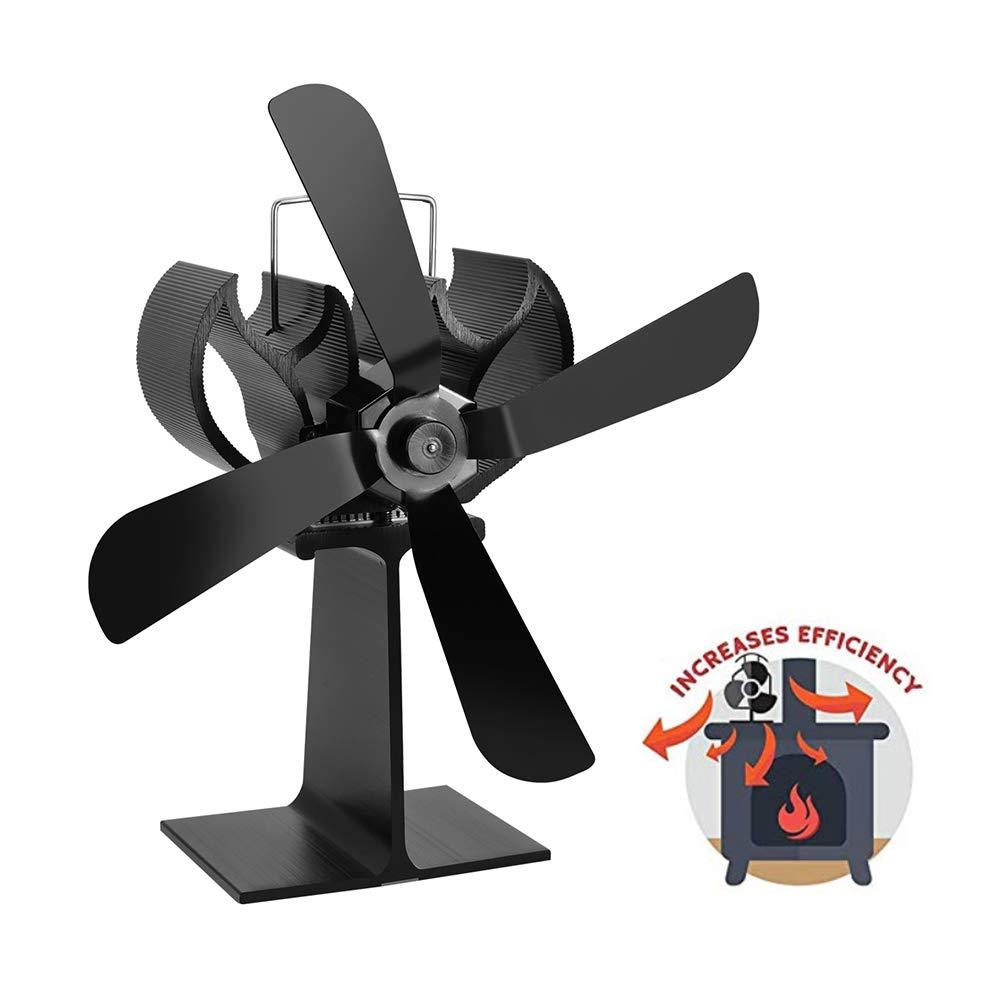 Fireplace Fan Mute Ventilating Fan Heat Circulation Ventilator Thermoelectric Blower Increases Warm Air Stoves Circulates Hot Circulator