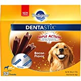 PEDIGREE DENTASTIX Bacon Flavor Large Treats for Dogs - 1.72 Pounds 32 Treats by Pedigree Treats