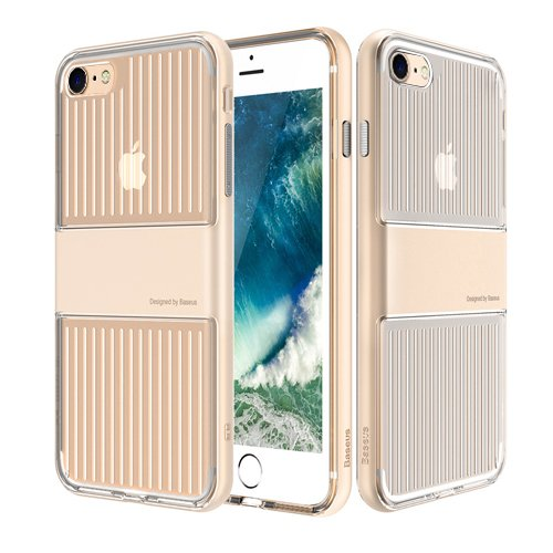 Baseus Travel Case für Apple iPhone 7 gold - Faceplate