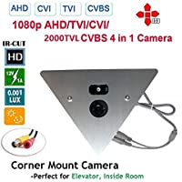 1/3 Sony Super HAD CCD II 700TVL 0.1Lux Corner Mountable Camera 2.8mm Wide Angle 12v (DSC-SP09S-700-2.8mm)