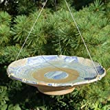 Anthony Stoneware Ceramic Bird Bath, Medium, French Blue