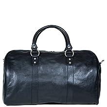 'Borsone Ovale Uno' Leather Luggage Bag