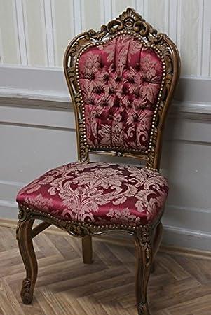 Salle A Manger Chaise De Style Baroque Tissu Rouge Amazon Fr