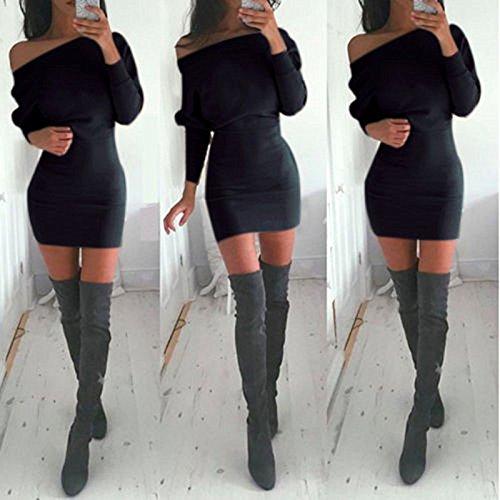Leezeshaw - Vestido - para mujer negro