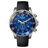 Edox Men's 'Chronorally-S' Quartz Stainless Steel and Rubber Sport...