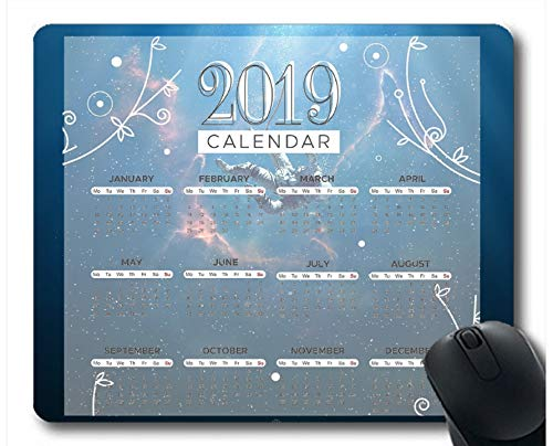 Flying Pig Man 2019 Calendar Pads,Space Astronaut Gaming Mouse Pads (Multi -