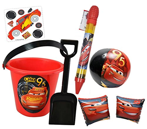 Disney/Pixar CARS 3 - Details & Downloadable Activity Sheets #Cars3 - Disney Pixar Cars 3 Summer Bucket of Fun! 5pc Set Includes: Bucket, Shovel, Water Blaster, Beach Ball & Floaties! Plus Bonus