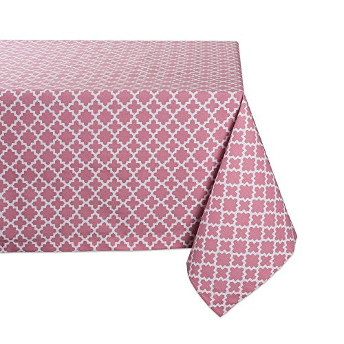 DII Rectangle Lattice Cotton Tablecloth for Weddings, Picnics, Summer Parties and Everyday Use - 60x104
