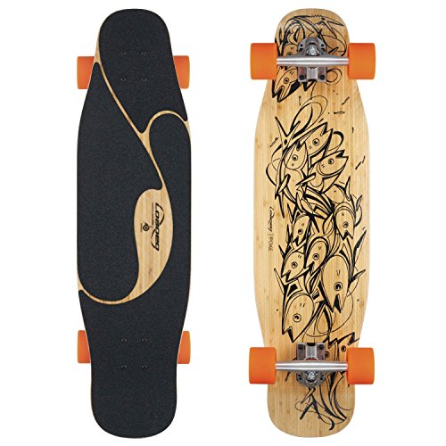Loaded Boards Poke Bamboo Longboard Skateboard Complete (80a Stimulus Wheels, Paris 150mm Trucks)