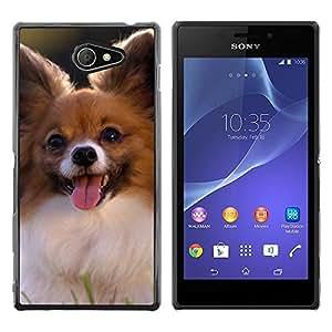 Be Good Phone Accessory // Dura Cáscara cubierta Protectora Caso Carcasa Funda de Protección para Sony Xperia M2 // Chihuahua Small Dog Pet Canine Sun