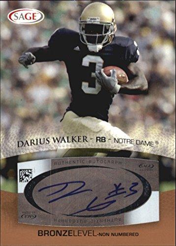 2007 SAGE Autographs Bronze #A57 Darius Walker Autograph - 2007 Autograph Sage