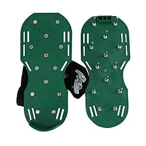 roomfitters aireador de césped zapatos Heavy Duty Spike ajustable correas hebillas de metabllic jardín Segadora Sandal
