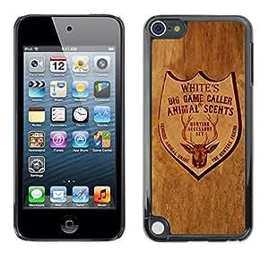 El bar en el rancho - Metal de aluminio y de plástico duro Caja del teléfono - Negro - Apple iPod Touch 5