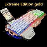 Best Accessory Power Mechanical Keyboards - Fokine Rainbow Multiple Color LED Backlit Mechanical Feeling Review