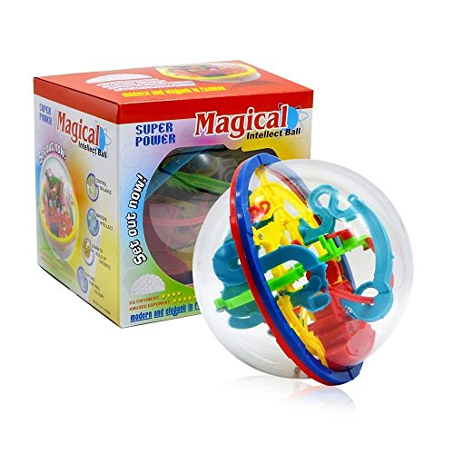 XUEJET Intellect 3D Maze Ball with 100 Challenging Barriers, Educational Toys Magic Puzzle Game for Children