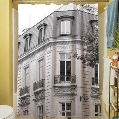 UPC 888635329556, Thumbprintz A Travers Paris II Polyester Shower Curtain