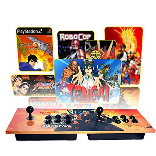 (PinPle Arcade Game Console Pandora's Box 4S Built-in 815 Classic Games Ultra Slim Metal 2 Players Double Joystick Botton Console with HDMI & VGA for HDTV / Monitor / Projector / PC [Plug & Play])