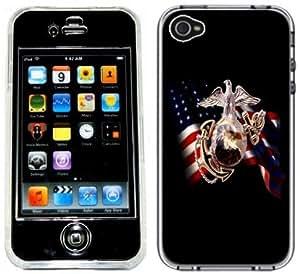 Marine Corps Marines Handmade iPhone 4 4S Full Hard Plastic Case