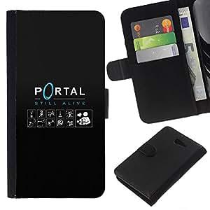 YiPhone /// Tirón de la caja Cartera de cuero con ranuras para tarjetas - Portal - Sony Xperia M2