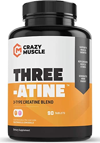 Creatine Pills – Keto Friendly Muscle Builder – 1,667 mg Tablets 100 More Than Capsules – Over 5000mg 5 Grams of Creatine Monohydrate, Pyruvate AKG – Optimum Strength Bodybuilding Supplements