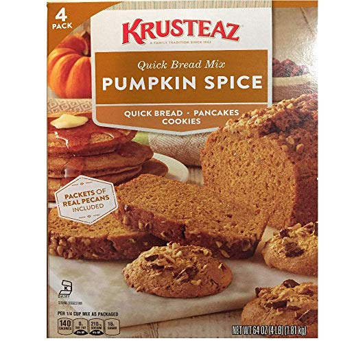 - Pumpkin Spice Bread Quick Bread - Krusteaz Quick Bread Supreme Mix, NET WEIGHT 64 oz. (FOUR 1 lb MIX PACK)