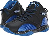 AND 1 Boys' Size 'M Up Sneaker, Black/Skydiver/Bright White, 6 Medium US Big Kid